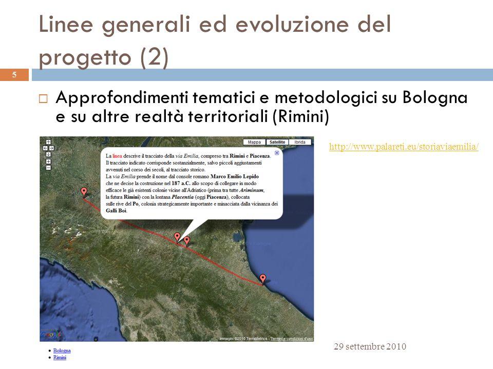 Linee generali ed evoluzione del progetto (2)