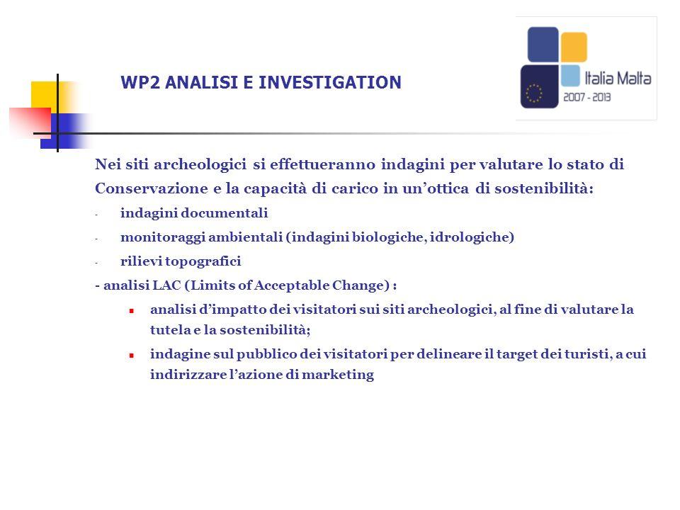 WP2 ANALISI E INVESTIGATION