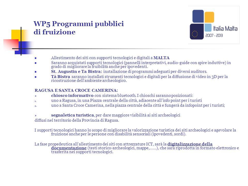 WP5 Programmi pubblici di fruizione