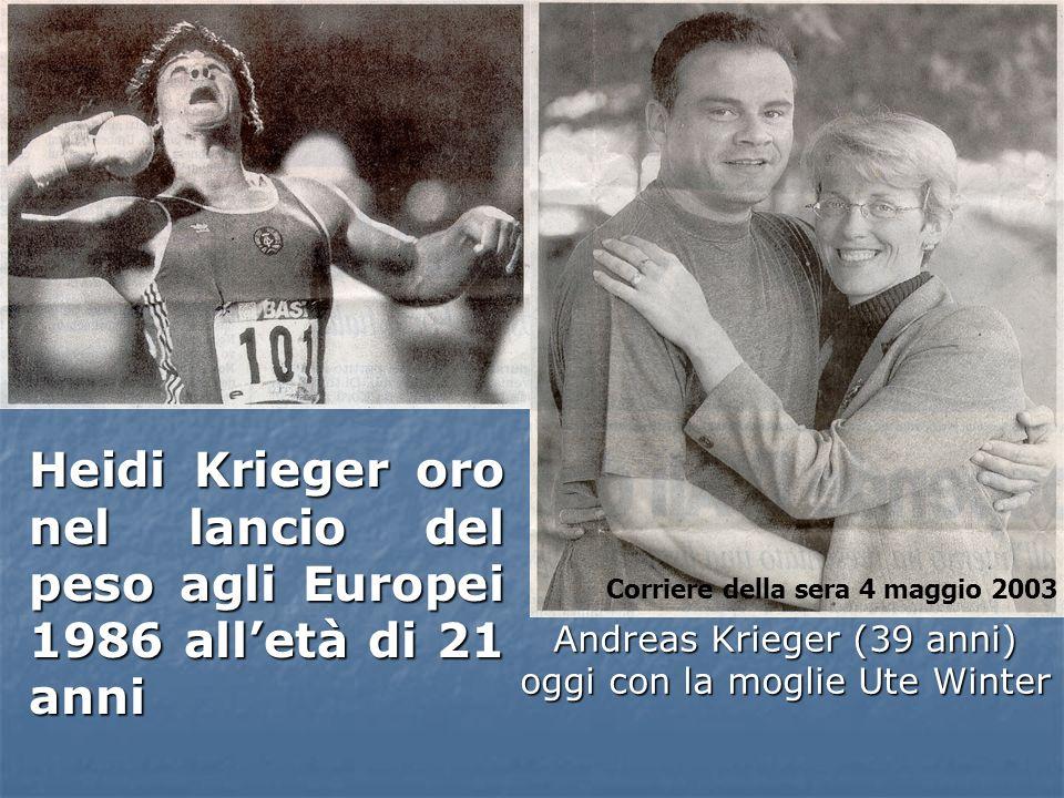 Andreas Krieger (39 anni) oggi con la moglie Ute Winter