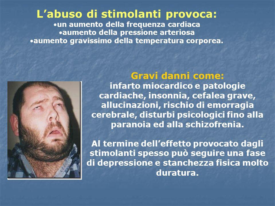 L'abuso di stimolanti provoca: