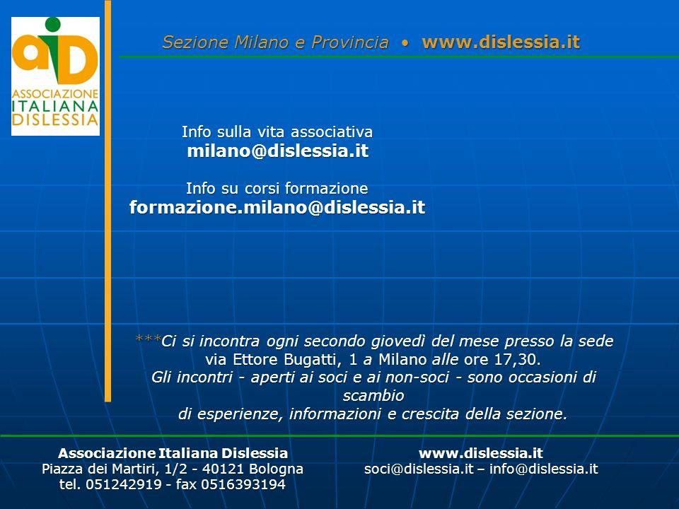 milano@dislessia.it formazione.milano@dislessia.it