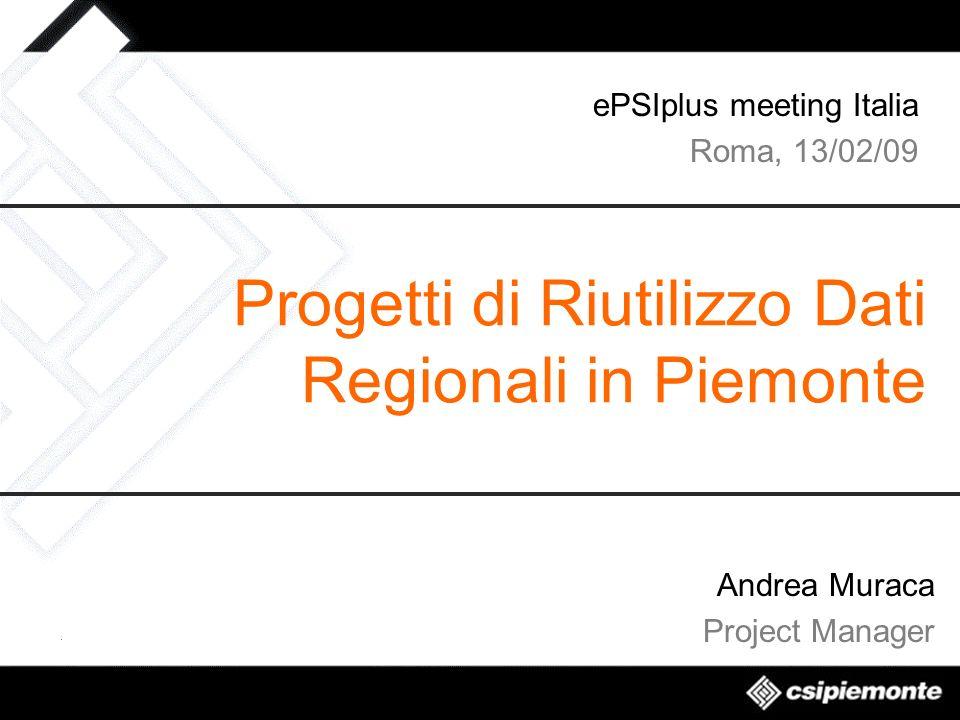 Progetti di Riutilizzo Dati Regionali in Piemonte