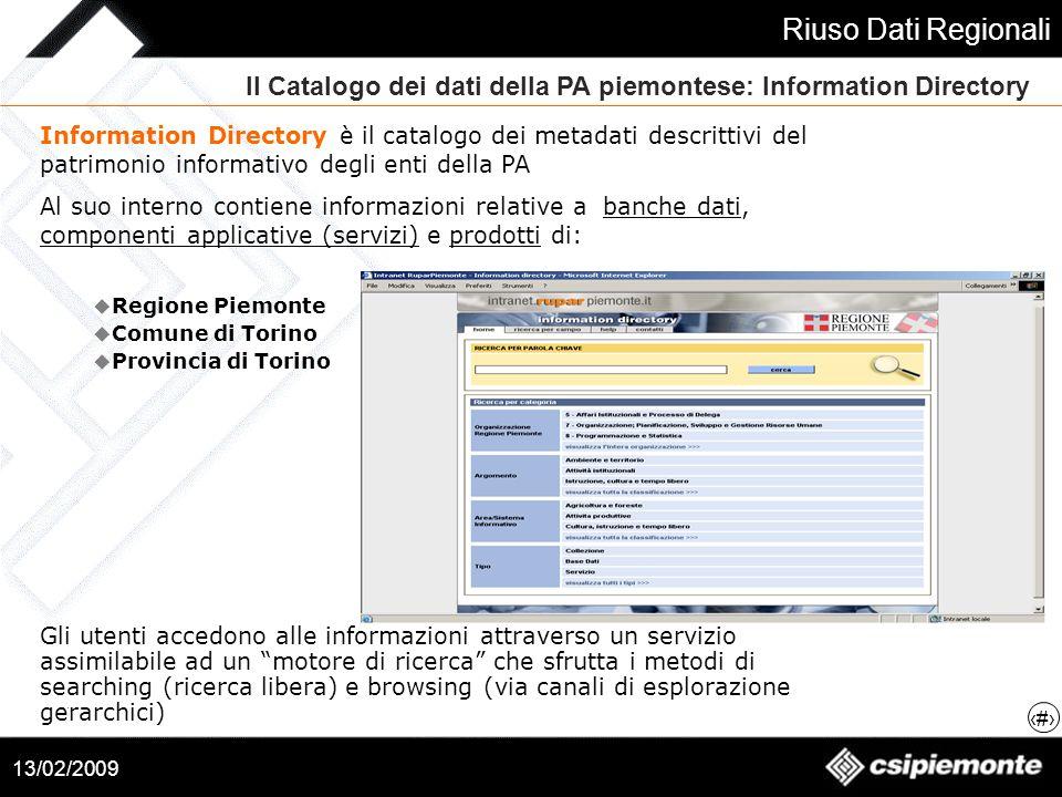 Il Catalogo dei dati della PA piemontese: Information Directory