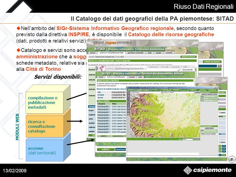 Il Catalogo dei dati geografici della PA piemontese: SITAD