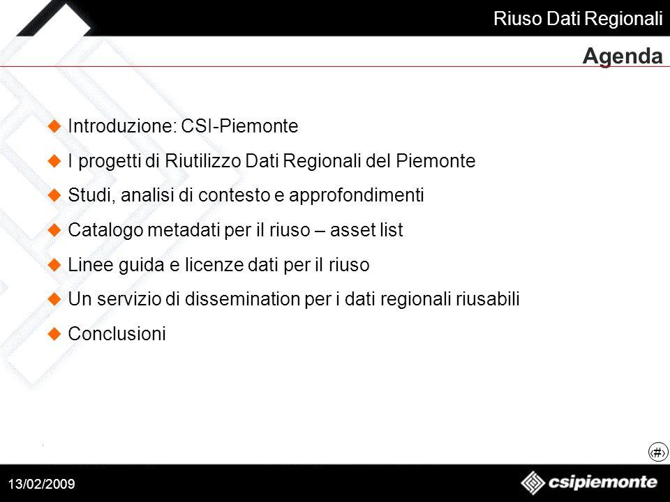 Agenda Introduzione: CSI-Piemonte