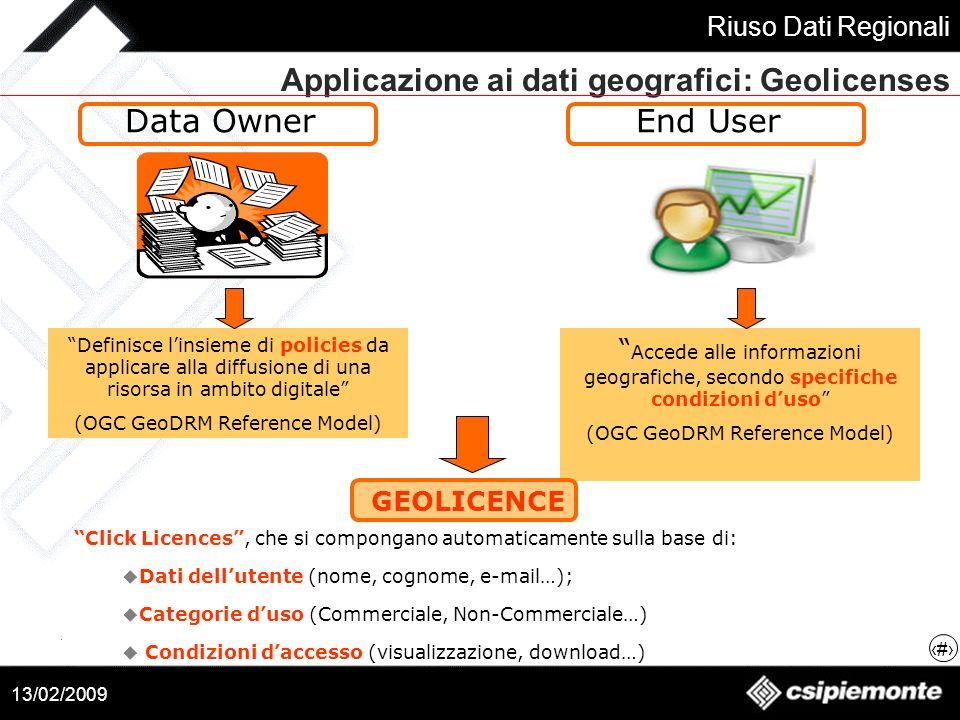 Applicazione ai dati geografici: Geolicenses