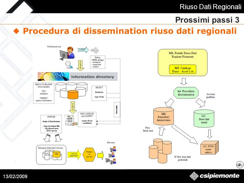Procedura di dissemination riuso dati regionali