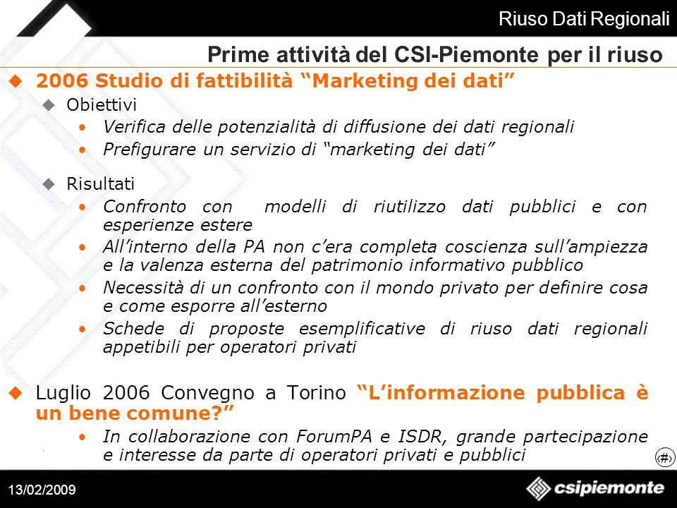 Prime attività del CSI-Piemonte per il riuso