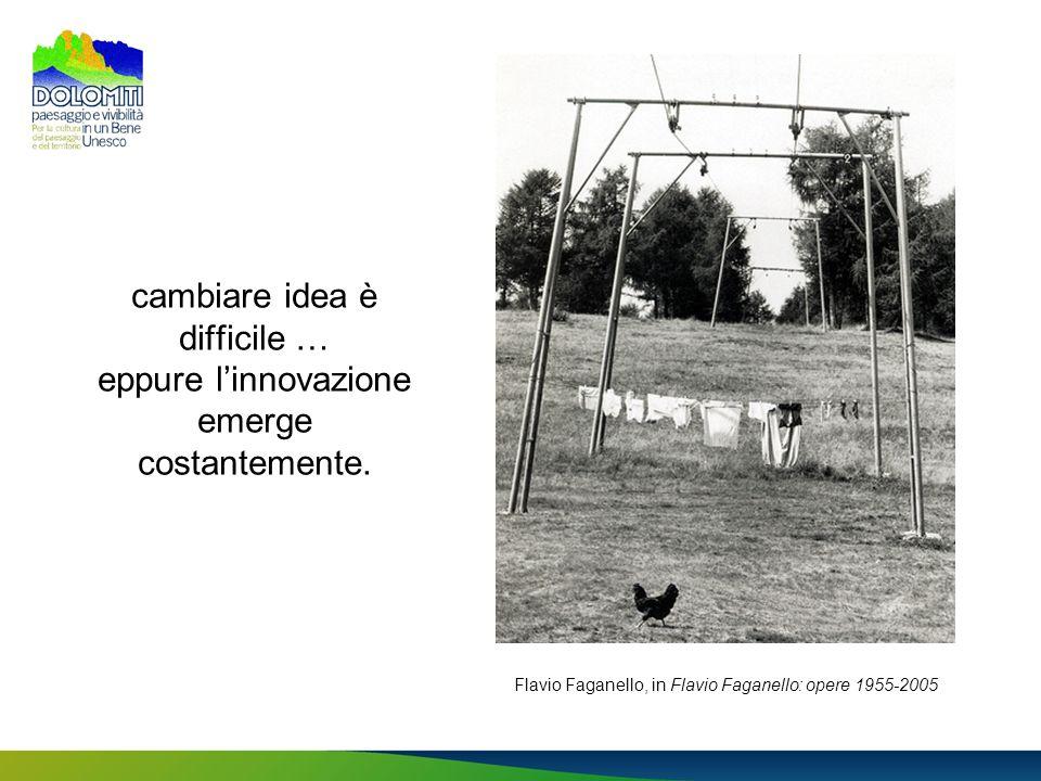 cambiare idea è difficile … eppure l'innovazione emerge costantemente.
