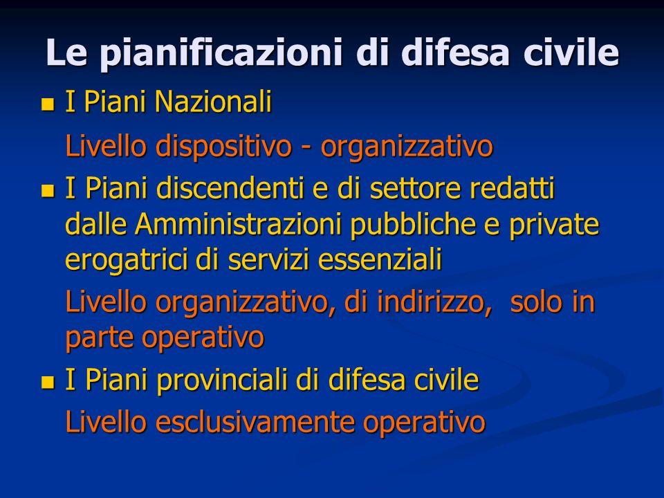 Le pianificazioni di difesa civile