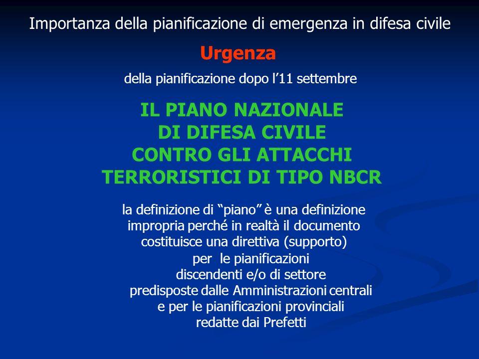 CONTRO GLI ATTACCHI TERRORISTICI DI TIPO NBCR
