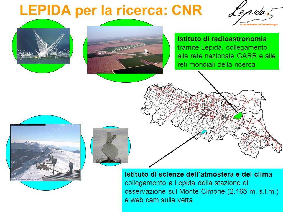 LEPIDA per la ricerca: CNR