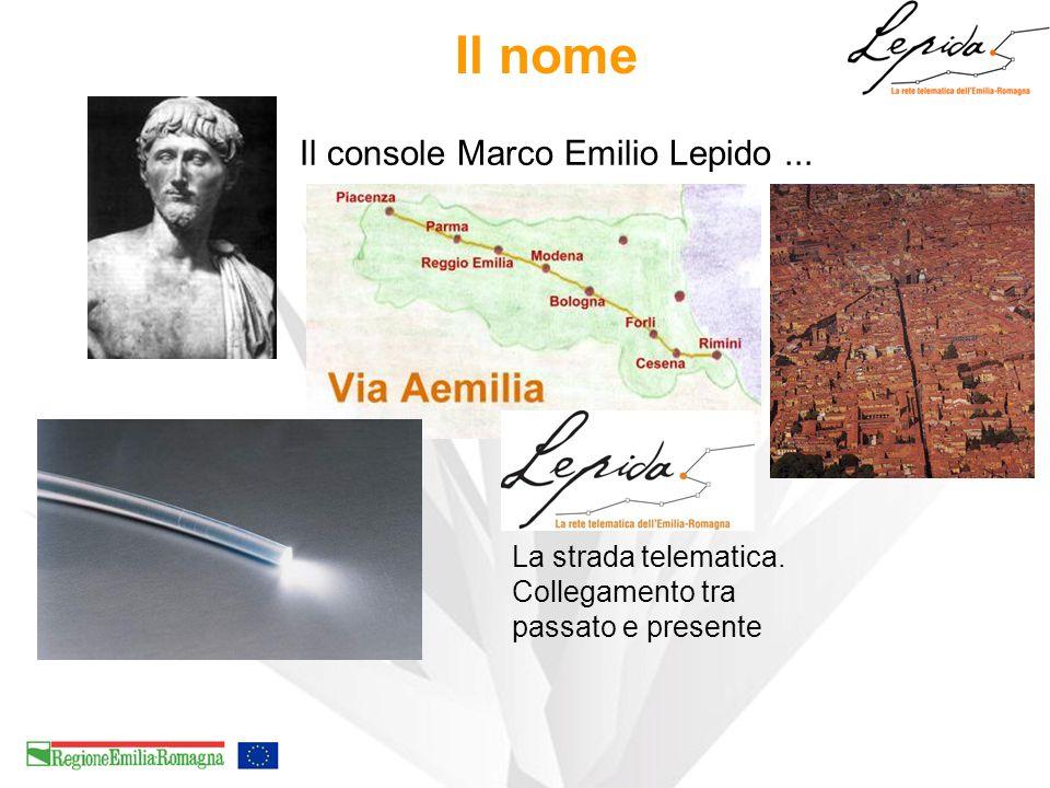 Il nome Il console Marco Emilio Lepido ...