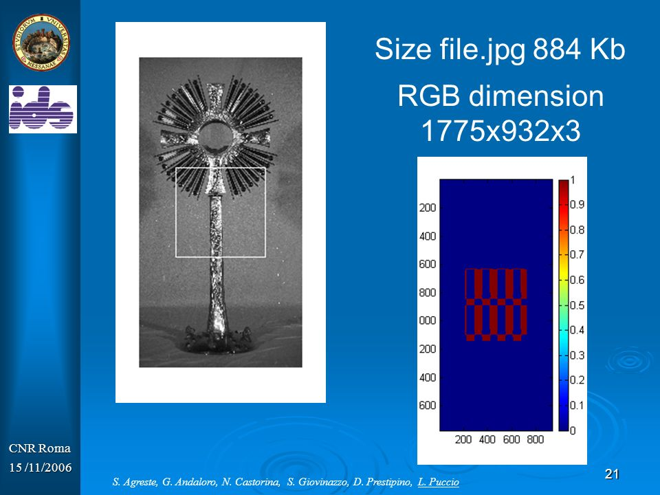 Size file.jpg 884 Kb RGB dimension 1775x932x3 CNR Roma 15 /11/2006