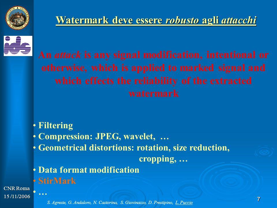 Watermark deve essere robusto agli attacchi