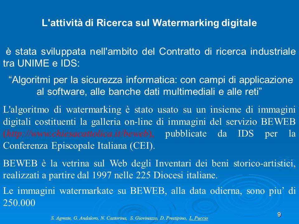 L attività di Ricerca sul Watermarking digitale