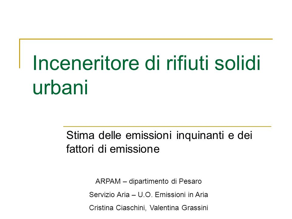 Inceneritore di rifiuti solidi urbani