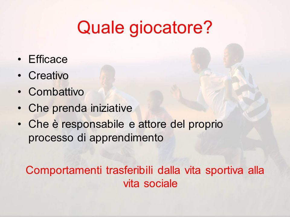 Comportamenti trasferibili dalla vita sportiva alla vita sociale