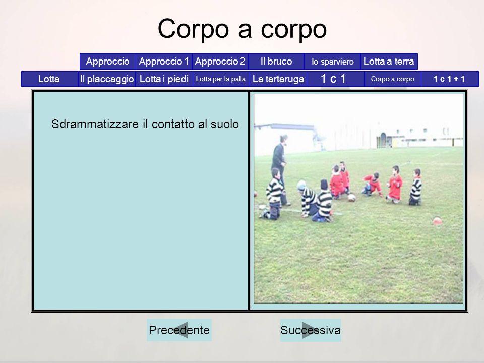 Corpo a corpo 1 c 1 Sdrammatizzare il contatto al suolo Precedente