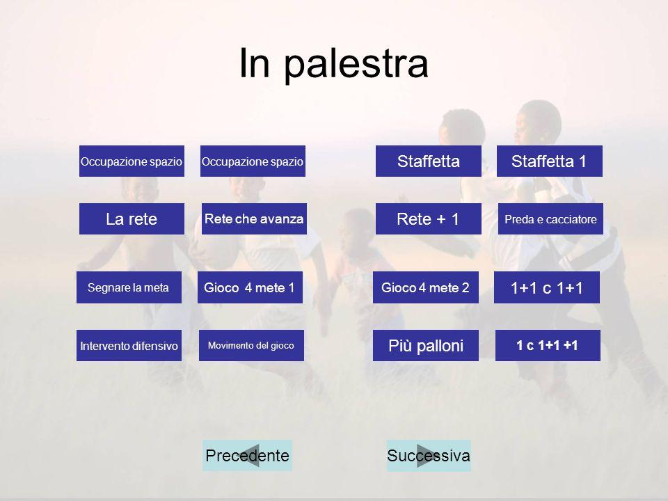 In palestra Staffetta Staffetta 1 La rete Rete + 1 1+1 c 1+1