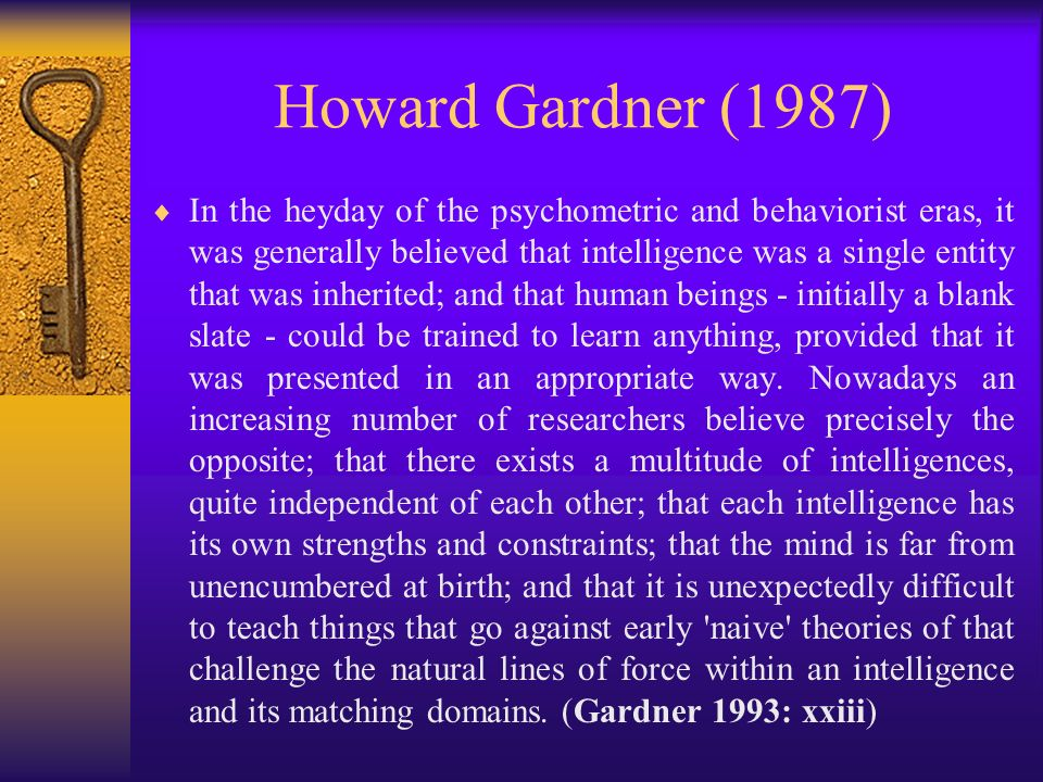 Howard Gardner (1987)