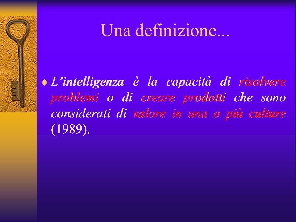 Una definizione...