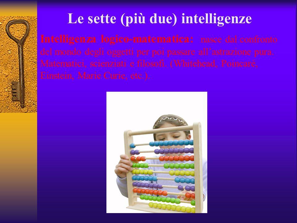 Le sette (più due) intelligenze