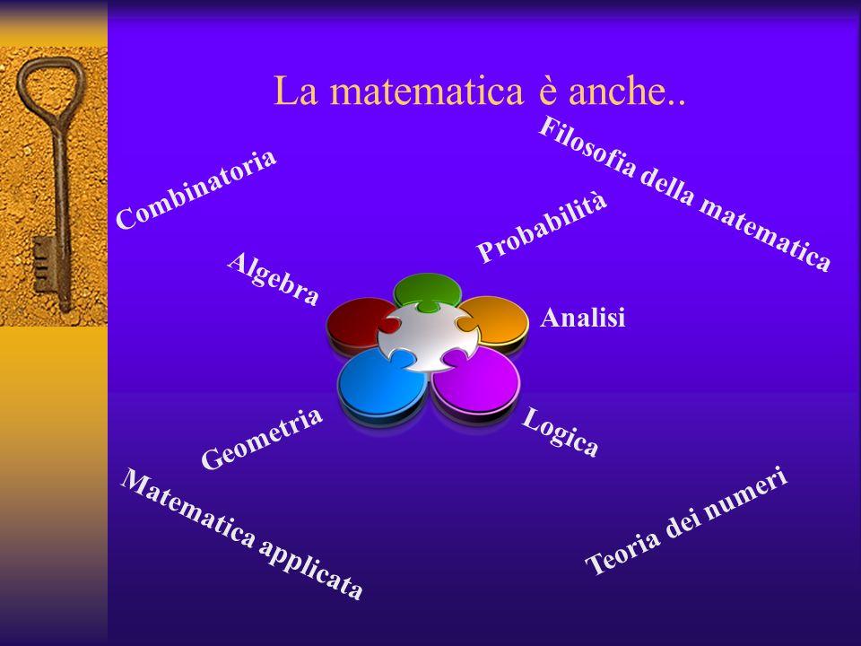 La matematica è anche.. Filosofia della matematica Combinatoria