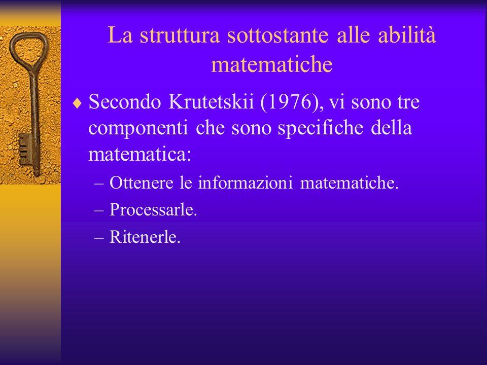 La struttura sottostante alle abilità matematiche