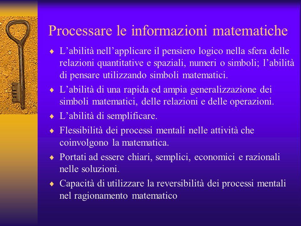 Processare le informazioni matematiche
