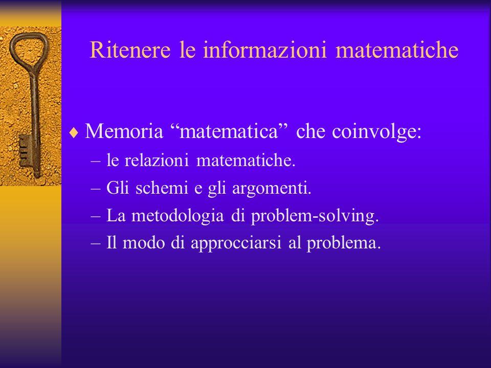 Ritenere le informazioni matematiche