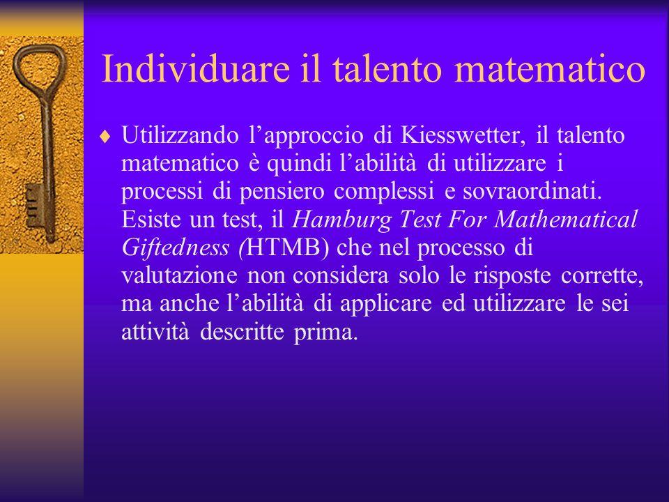 Individuare il talento matematico