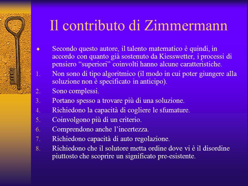 Il contributo di Zimmermann