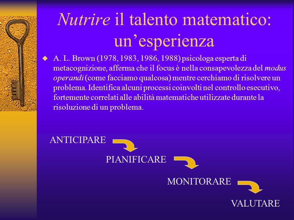 Nutrire il talento matematico: un'esperienza