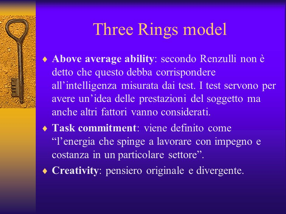 Three Rings model