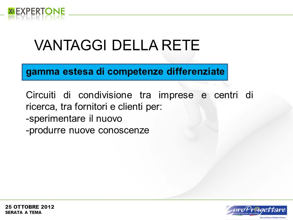 gamma estesa di competenze differenziate