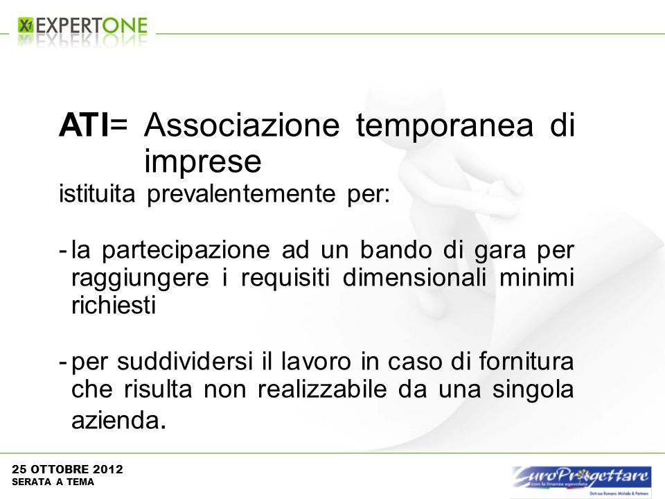 ATI= Associazione temporanea di imprese