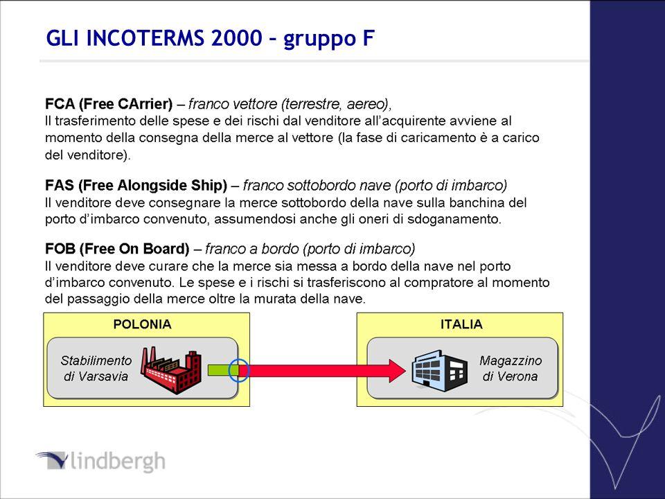 GLI INCOTERMS 2000 – gruppo F