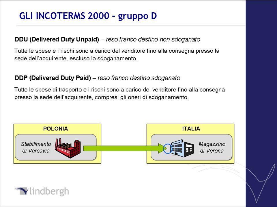 GLI INCOTERMS 2000 – gruppo D