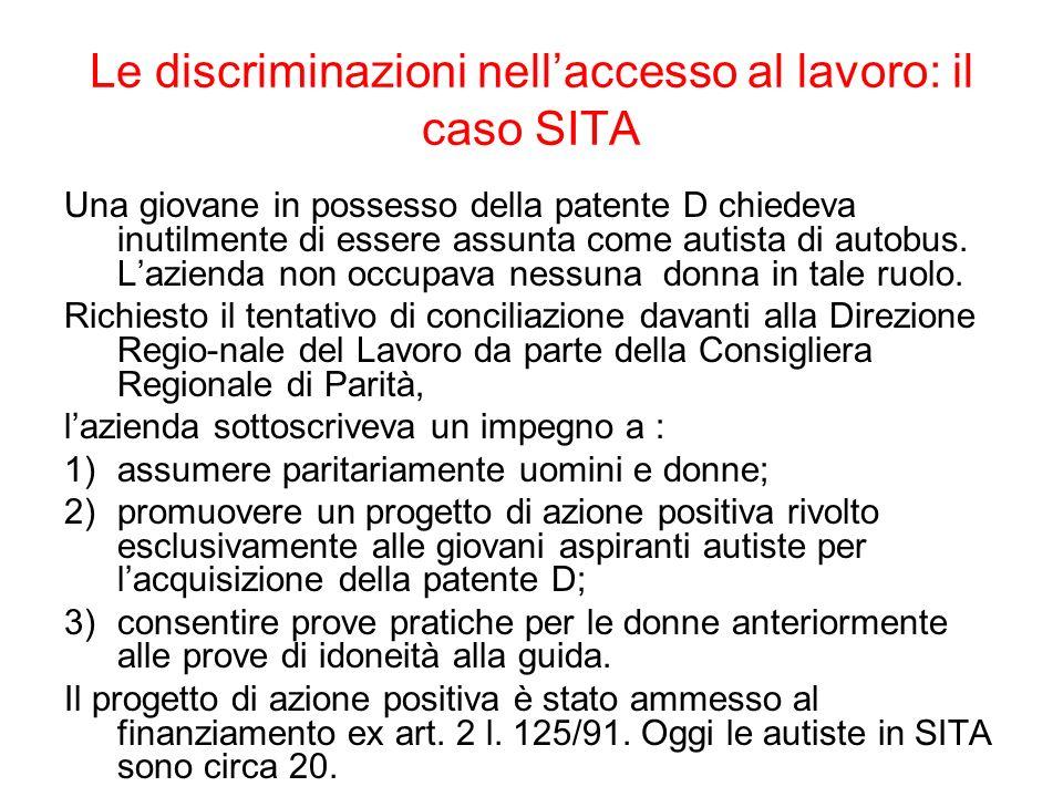Le discriminazioni nell'accesso al lavoro: il caso SITA