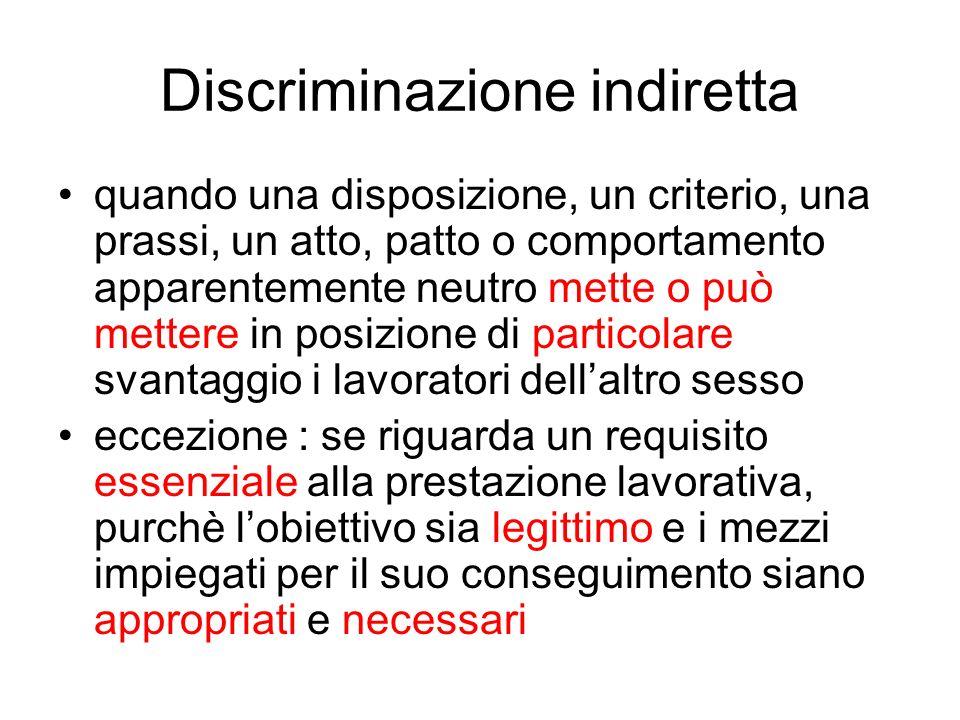 Discriminazione indiretta