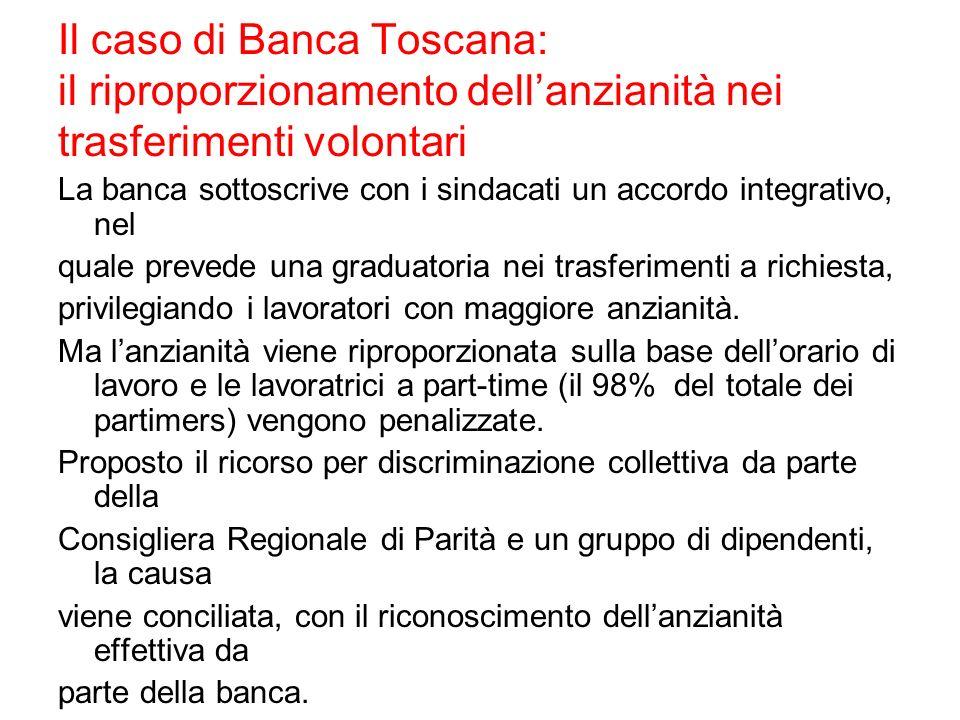 Il caso di Banca Toscana: il riproporzionamento dell'anzianità nei trasferimenti volontari