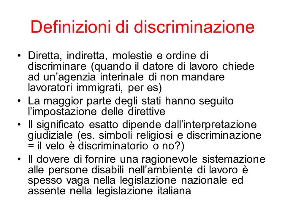 Definizioni di discriminazione