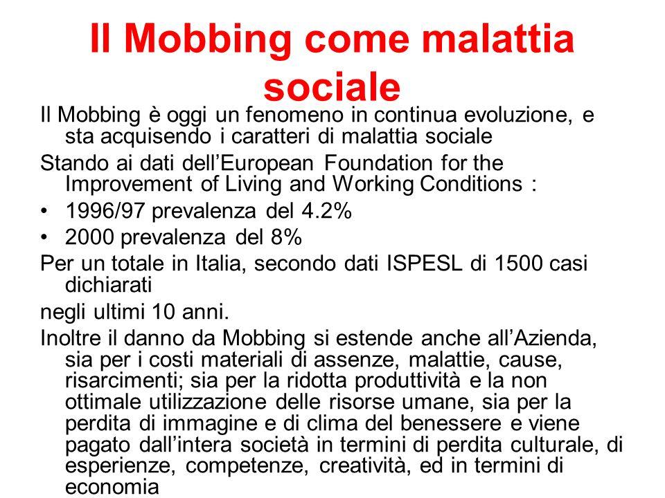 Il Mobbing come malattia sociale
