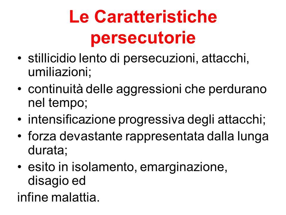 Le Caratteristiche persecutorie