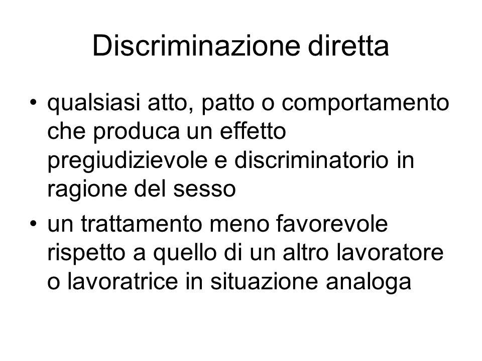 Discriminazione diretta