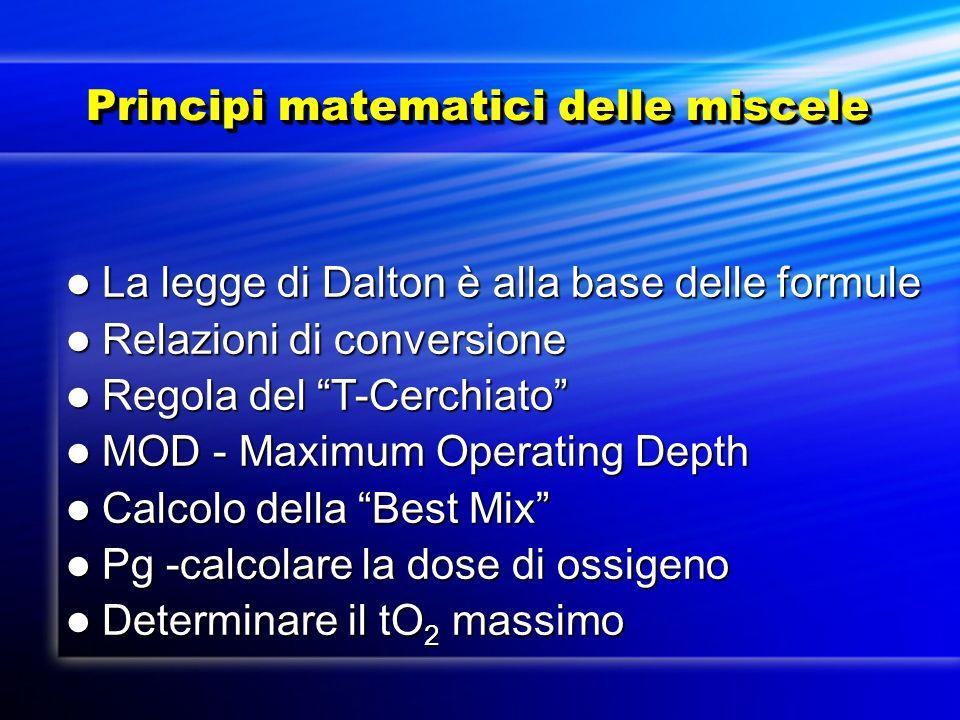 Principi matematici delle miscele