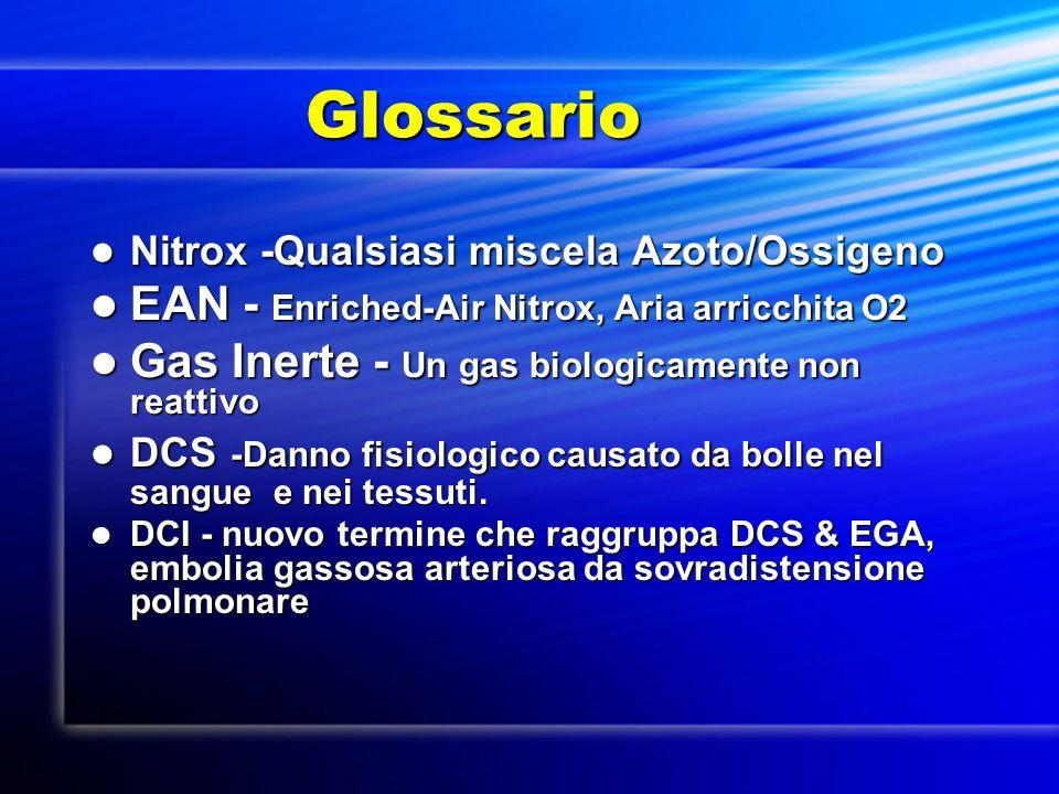 Glossario EAN - Enriched-Air Nitrox, Aria arricchita O2