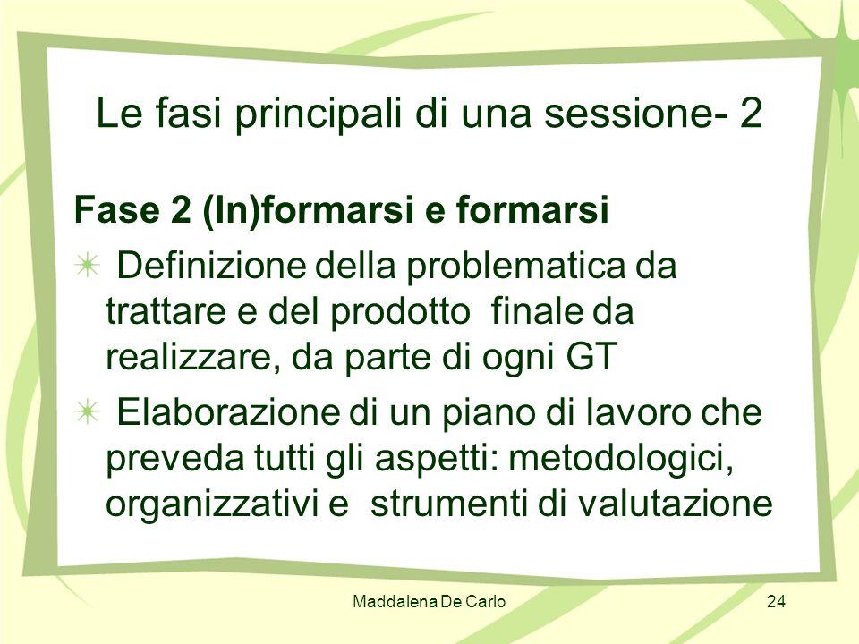 Le fasi principali di una sessione- 2